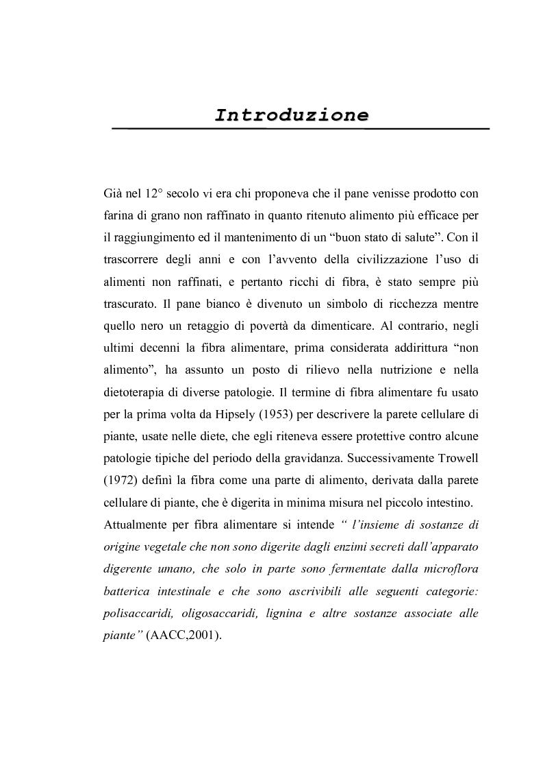 Anteprima della tesi: Utilizzo di nuove miscele enzimatiche di origine fungina per migliorare la qualità nutrizionale della fibra di grano duro., Pagina 1