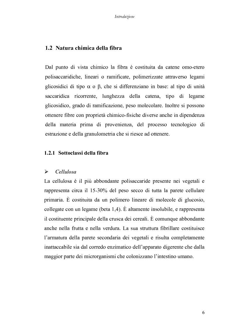 Anteprima della tesi: Utilizzo di nuove miscele enzimatiche di origine fungina per migliorare la qualità nutrizionale della fibra di grano duro., Pagina 6