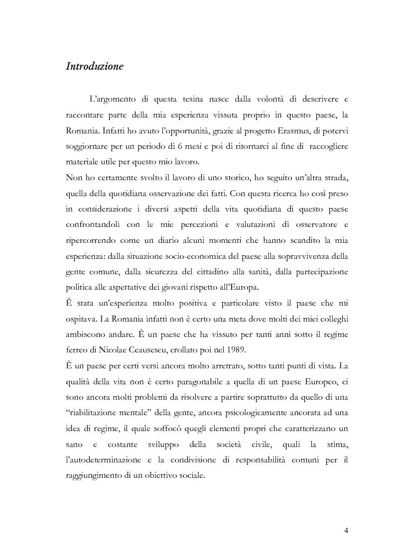 Anteprima della tesi: Percezione e Valutazione della vita quotidiana in un paese post-comunista: la Romania, Pagina 1