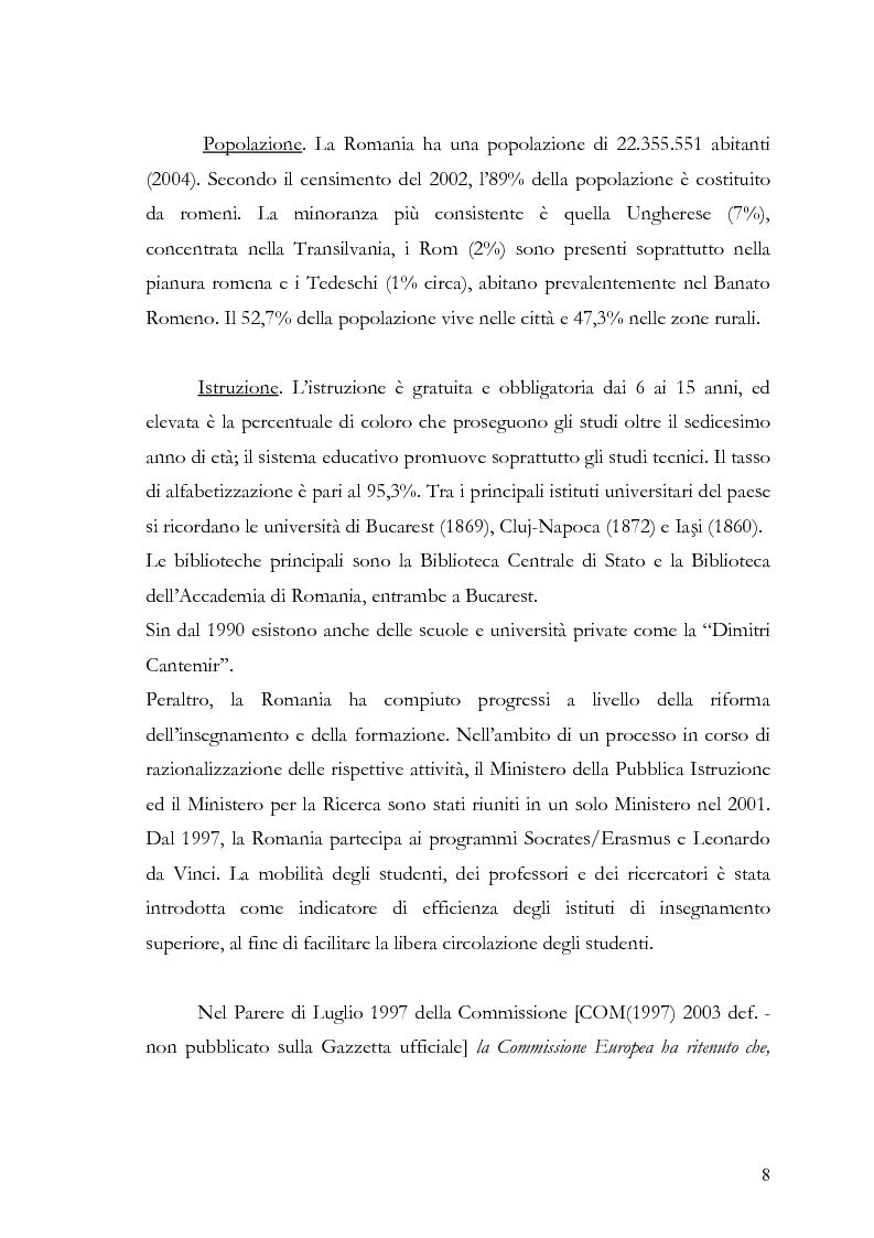 Anteprima della tesi: Percezione e Valutazione della vita quotidiana in un paese post-comunista: la Romania, Pagina 5