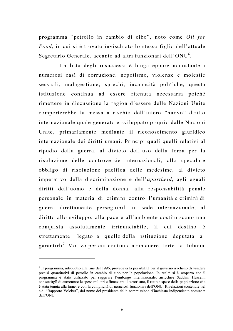 Anteprima della tesi: La riforma del Consiglio di Sicurezza delle Nazioni Unite: tendenze evolutive e problematiche giuridiche, Pagina 4