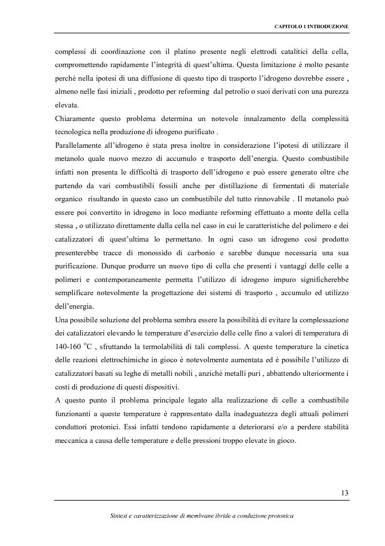 Anteprima della tesi: Sintesi e caratterizzazione elettrochimica di fosfati di zirconio funzionalizzati e loro impiego in membrane ibride a conduzione protonica, Pagina 8