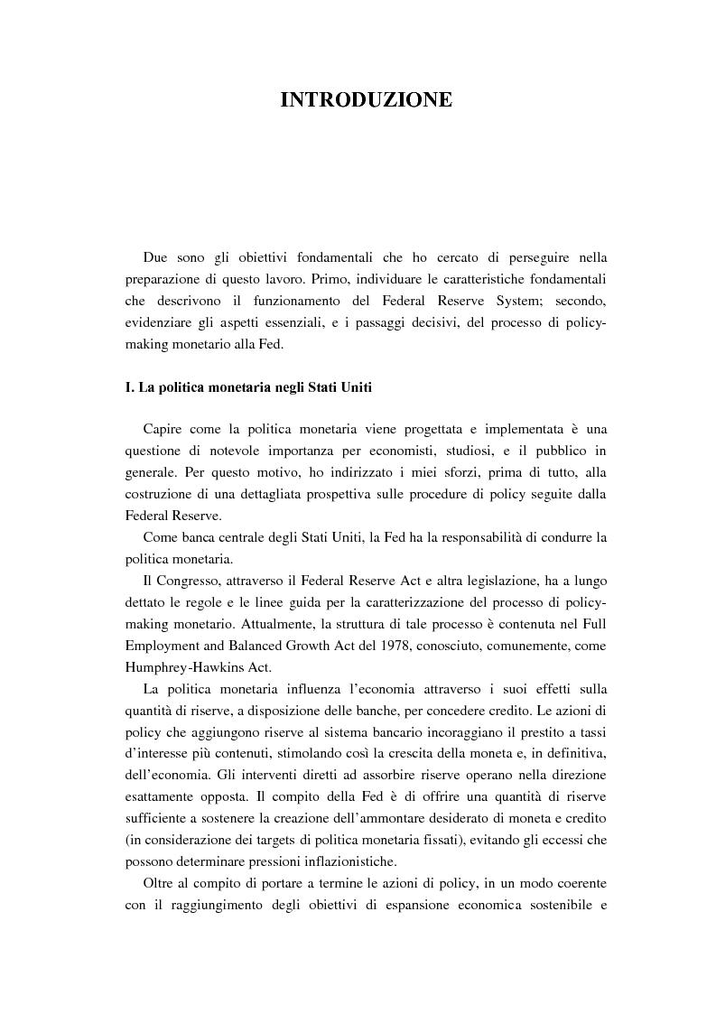 Anteprima della tesi: Il ruolo dei modelli macroeconomici nelle decisioni della FED: un'analisi della recessione del 90-91, Pagina 1