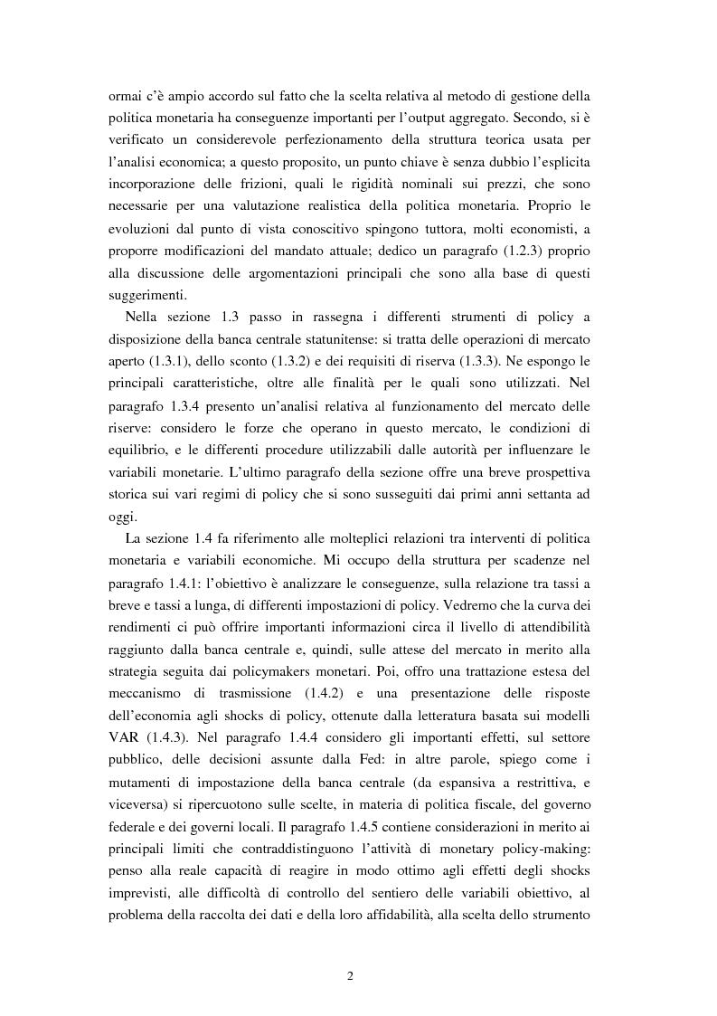 Anteprima della tesi: Il ruolo dei modelli macroeconomici nelle decisioni della FED: un'analisi della recessione del 90-91, Pagina 7