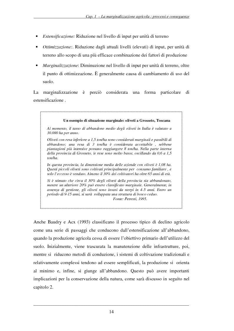 Anteprima della tesi: Analisi territoriale della marginalizzazione del settore agricolo per la valutazione ambientale del territorio rurale dell'Unione Europea, Pagina 14