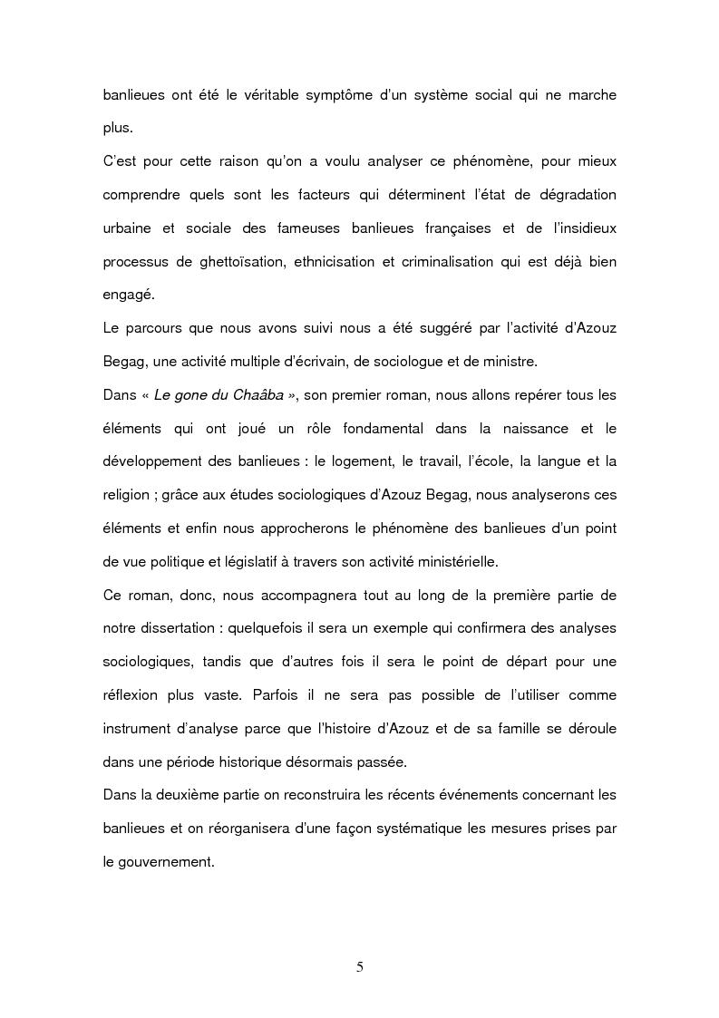 Anteprima della tesi: Azouz Begag et le phénomène des banlieues, Pagina 2