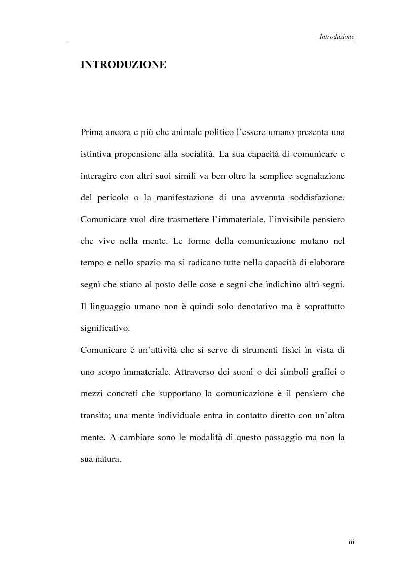 La comunicazione cellulare: l'SMS nella società dell'oralità secondaria - Tesi di Laurea