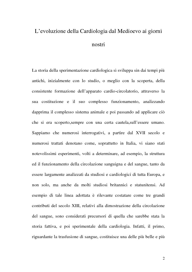 Anteprima della tesi: La Sperimentazione in Cardiologia, Pagina 2