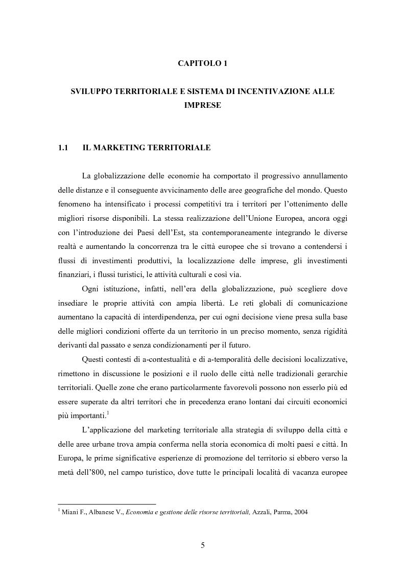 Anteprima della tesi: L'evoluzione del sistema degli incentivi alle imprese, Pagina 4