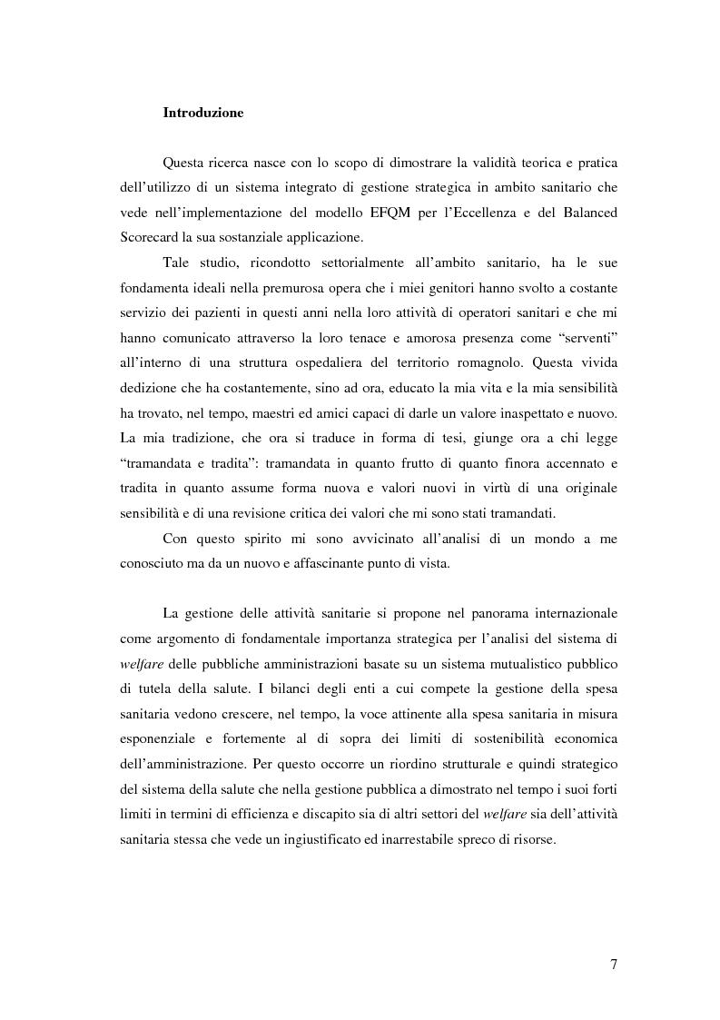 Anteprima della tesi: Il modello EFQM e il Balanced Scorecard: l'esperienza spagnola dell'Hospital de La Ribera, Pagina 1