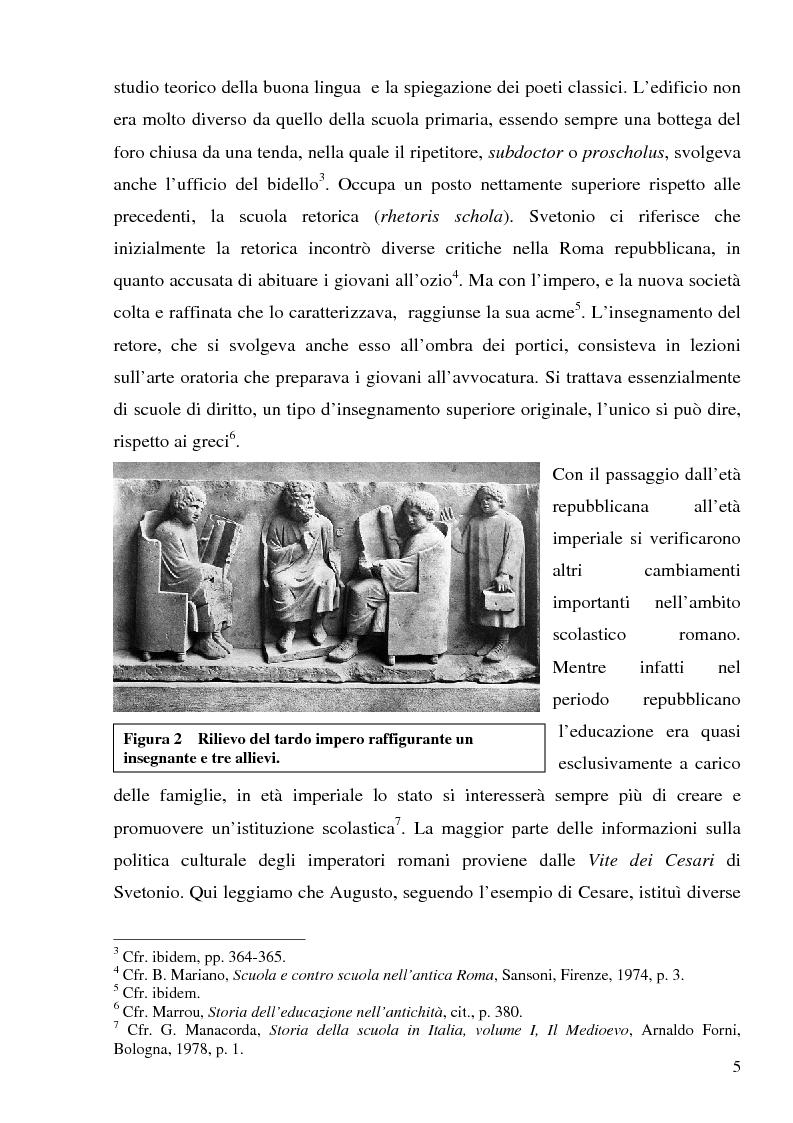 Anteprima della tesi: La trasmissione della cultura tra civiltà classica e medioevo: dalle invasioni barbariche alla rinascita carolingia, Pagina 2