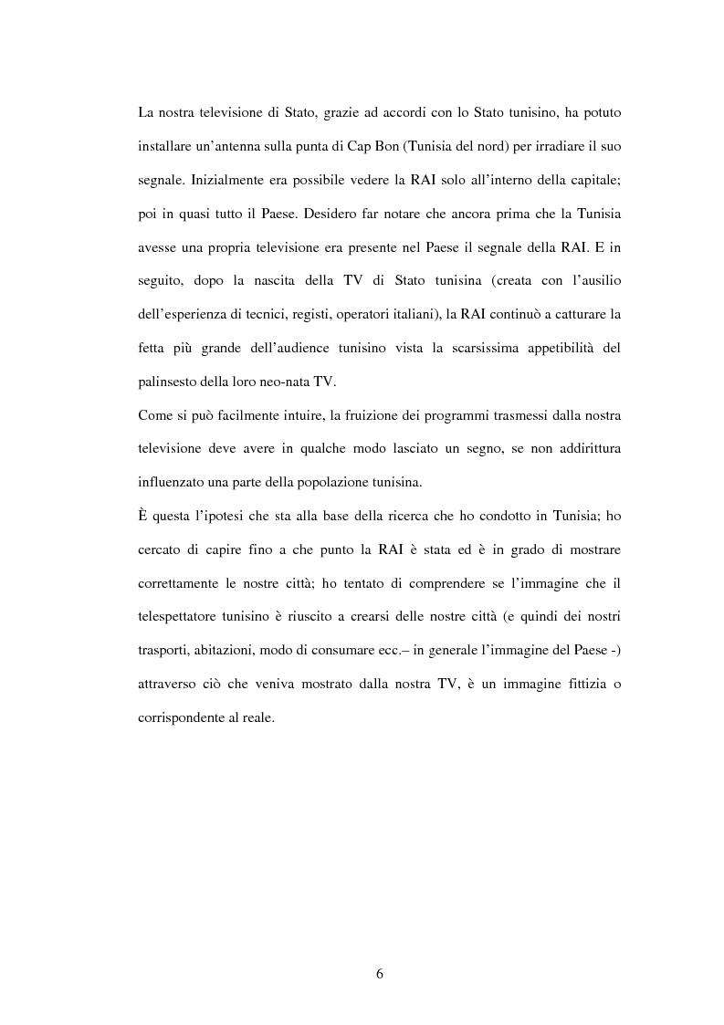 Anteprima della tesi: Roma-Cap Bon: sola andata. L'identità delle città italiane nell'esperienza dei telespettatori tunisini, Pagina 2