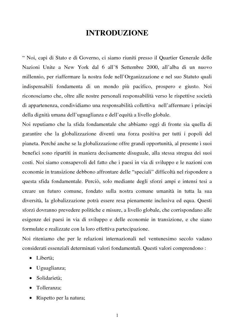 Anteprima della tesi: Dallo sviluppo economico a quello umano: analisi e metodologie di misurazione elaborate dall'UNDP, Pagina 1