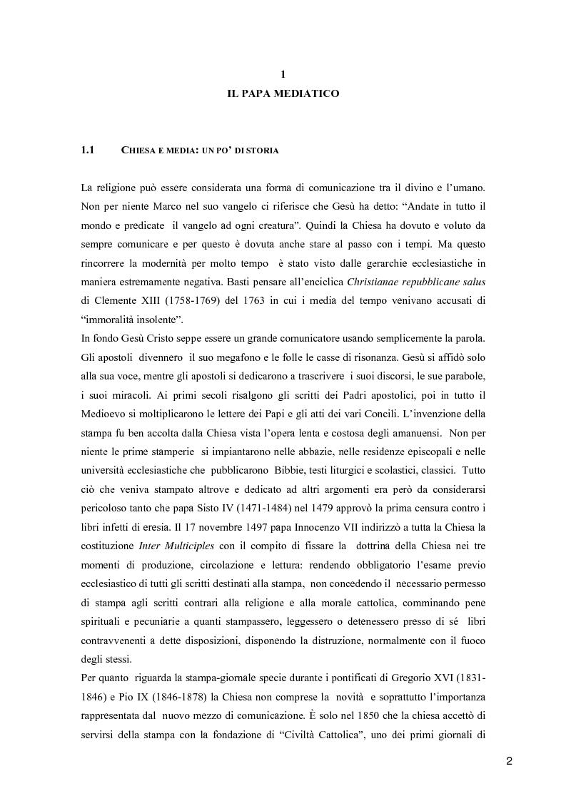 Giovanni Paolo II. Il Papa mediatico - Tesi di Laurea