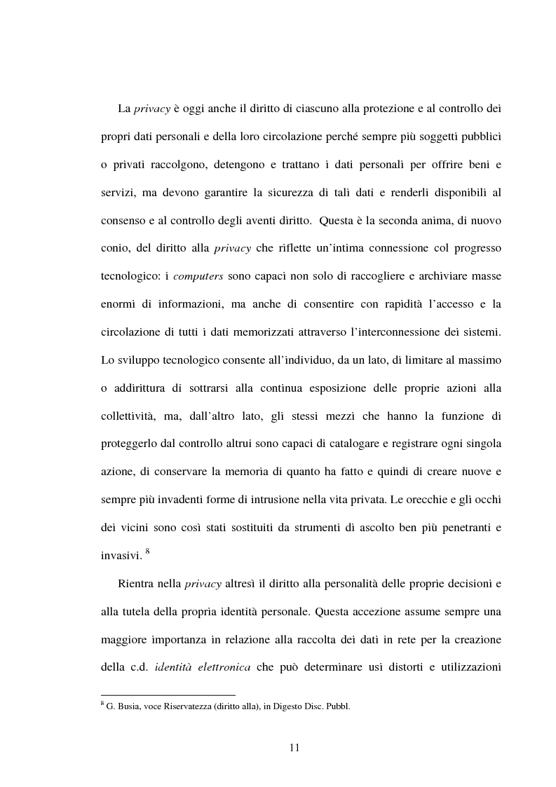 Anteprima della tesi: Rapporto di lavoro e privacy, Pagina 8