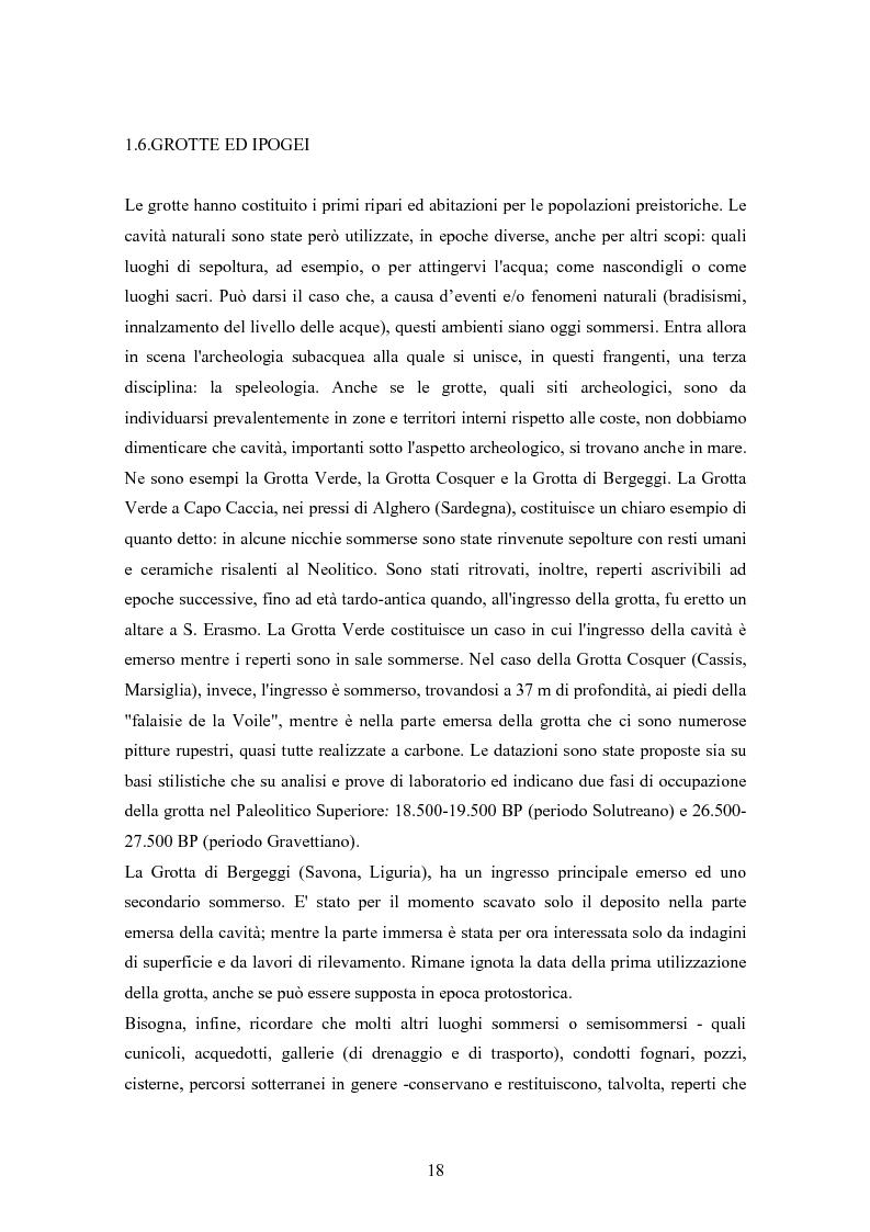 Anteprima della tesi: I musei di archeologia subacquea in Italia. Analisi della situazione e prospettive, Pagina 11