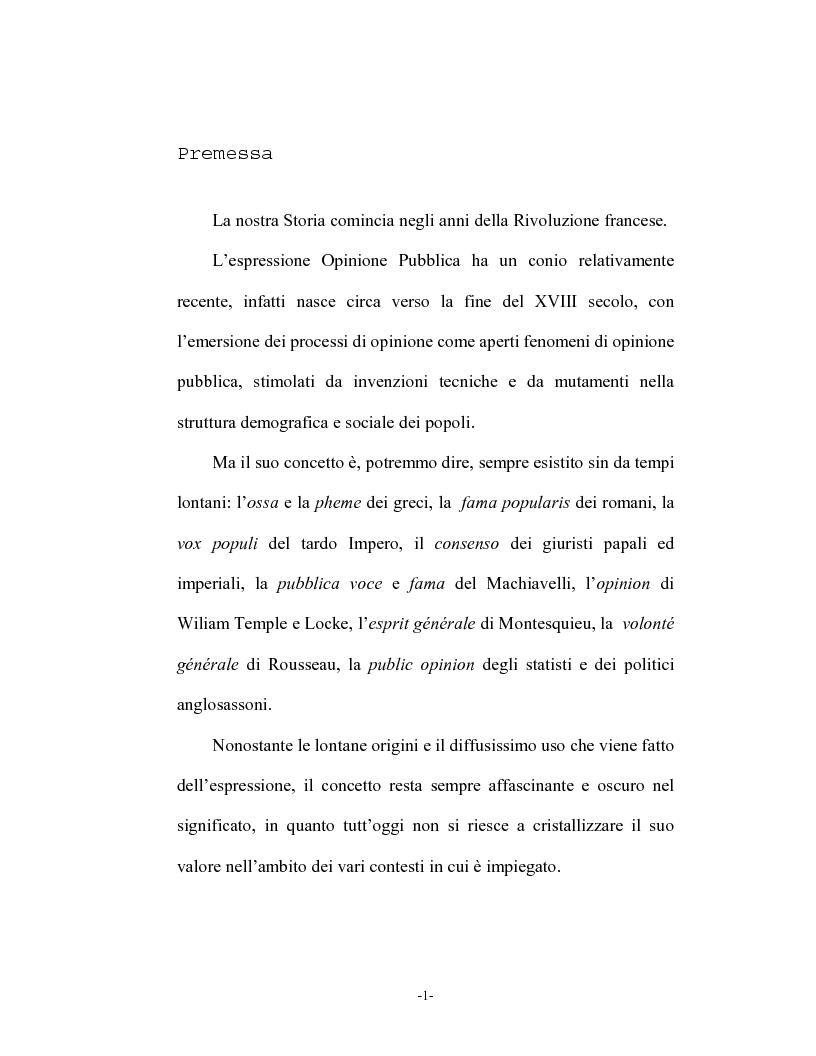 Anteprima della tesi: Opinione pubblica e democrazia nel pensiero politico, Pagina 1