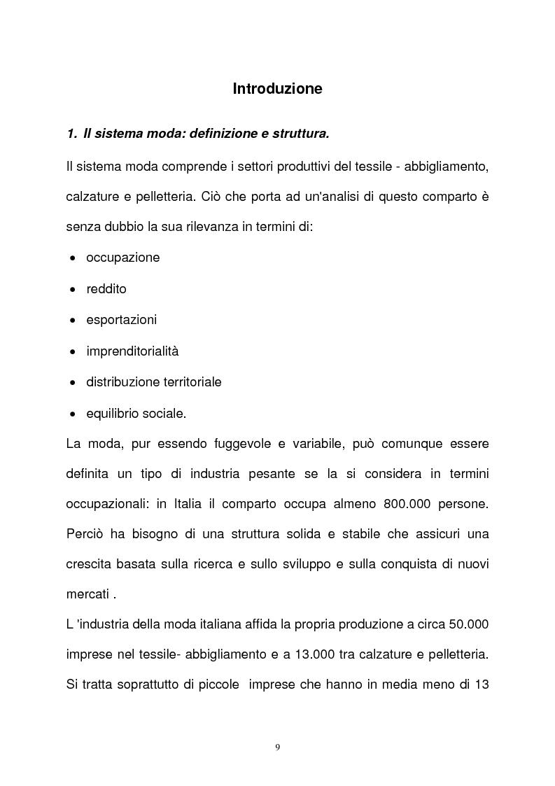 Anteprima della tesi: L'industria della moda (il caso italiano e alcuni confronti internazionali), Pagina 1