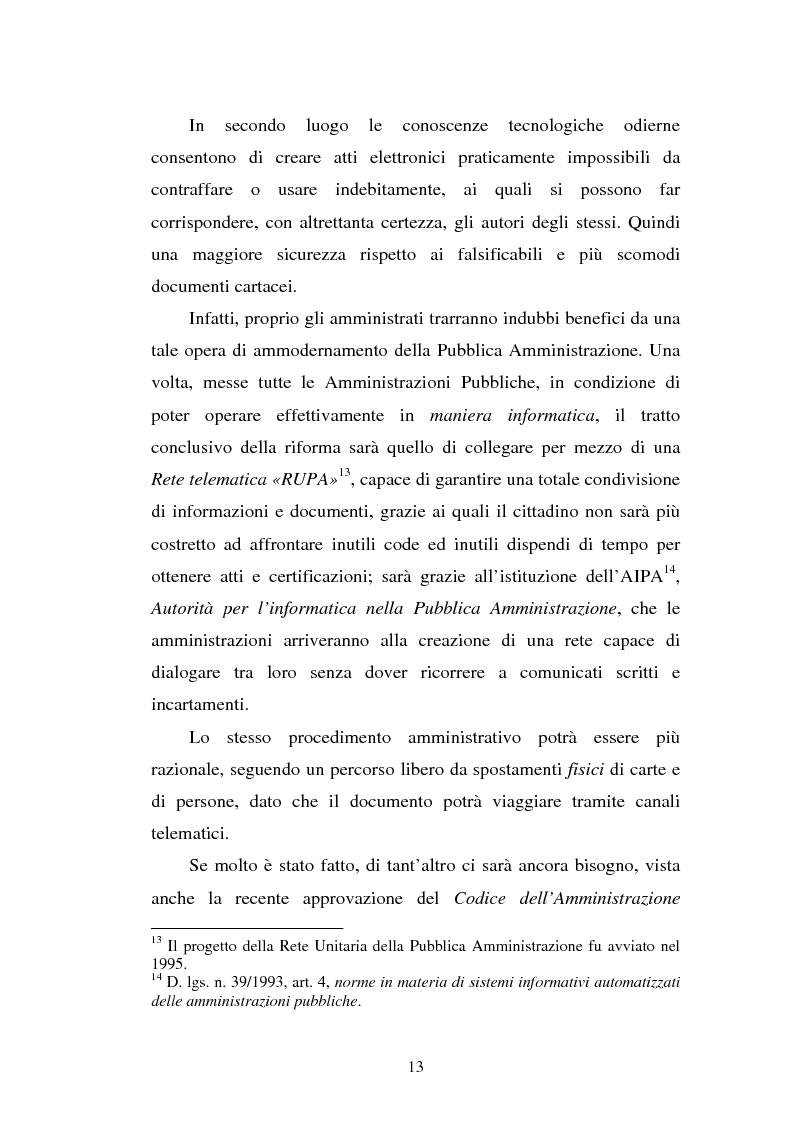 Anteprima della tesi: Il sistema informatico nella pubblica amministrazione da Rupa a SPC, Pagina 11