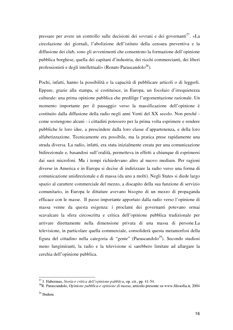 Anteprima della tesi: Nuovi media e partecipazione democratica al processo di costruzione dell'informazione. L'evoluzione della cittadinanza attiva nell'epoca dei media digitali, Pagina 13