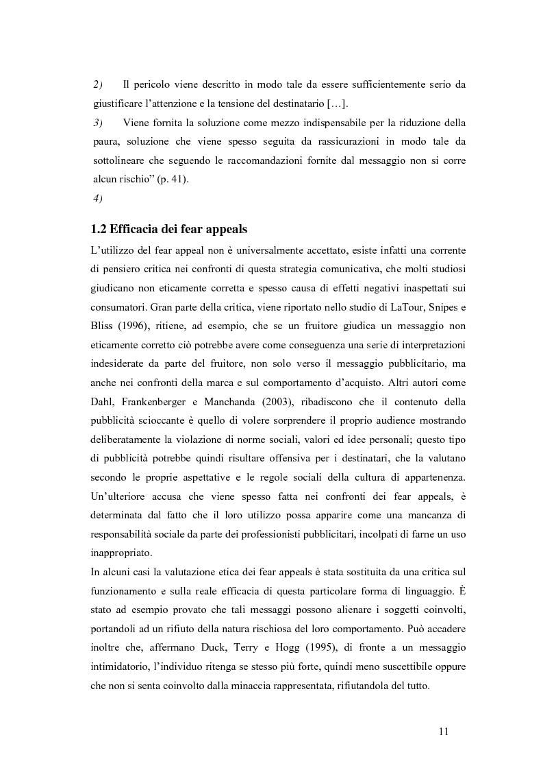 Anteprima della tesi: L'utilizzo dei fear appeals nelle pubblicità di prevenzione dell'AIDS, Pagina 7