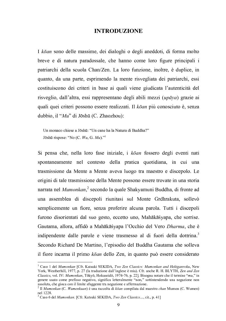 Il koan e il problema del linguaggio nella tradizione zen - Tesi di Laurea