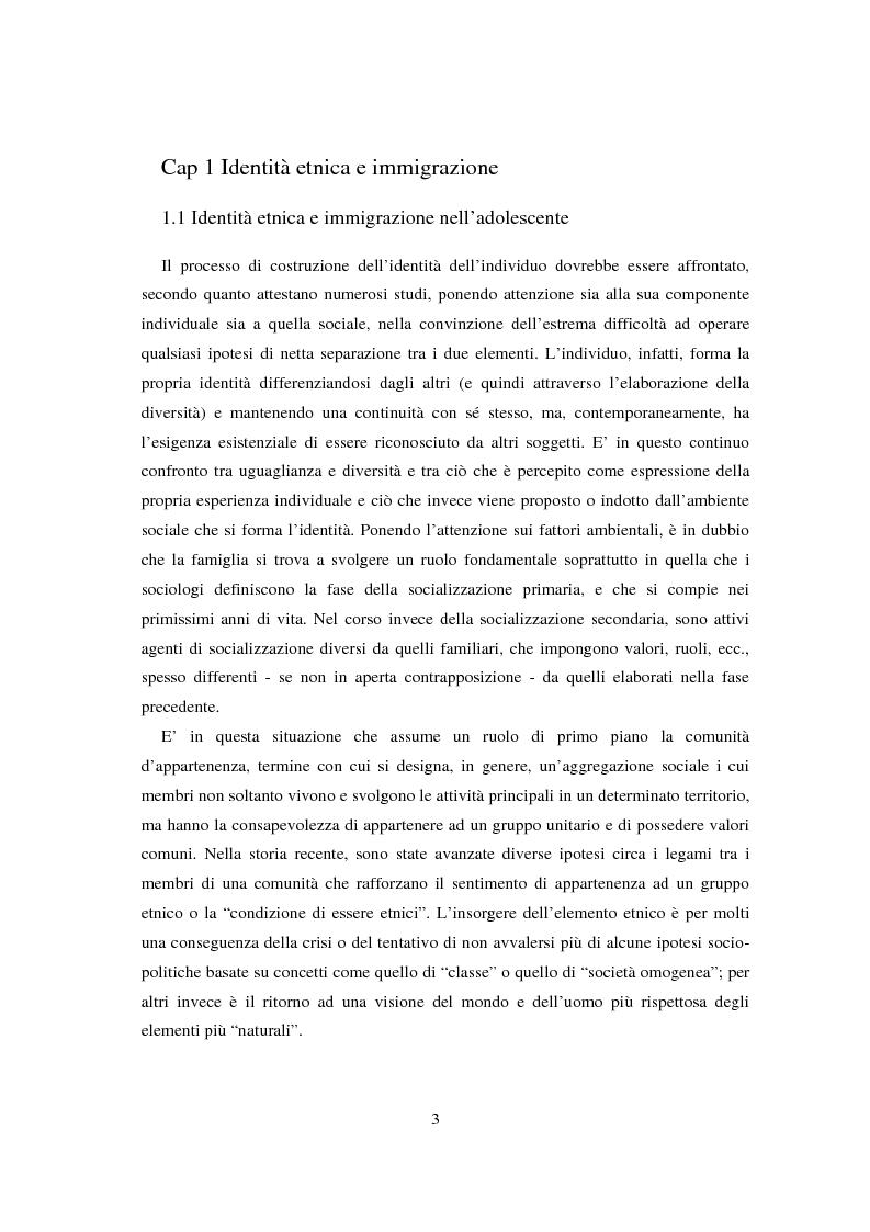 Anteprima della tesi: Adolescenti e immigrazione, Pagina 1