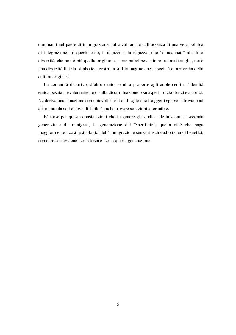 Anteprima della tesi: Adolescenti e immigrazione, Pagina 3
