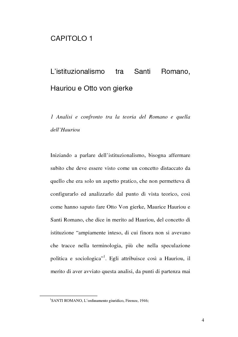 Anteprima della tesi: La Teoria dell'Istituzione tra Diritto e Politica, Pagina 4