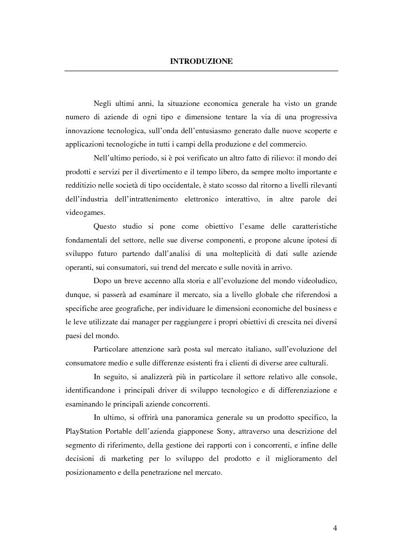 Anteprima della tesi: Decisioni e strategie di marketing nel mercato dei videogiochi, Pagina 1