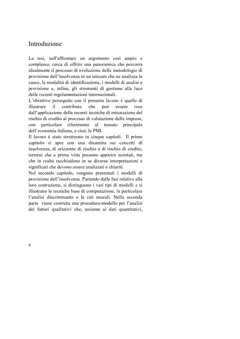 Anteprima della tesi: I Modelli Economico-Aziendali: la previsione di insolvenza alla luce di Basilea 2, Pagina 1