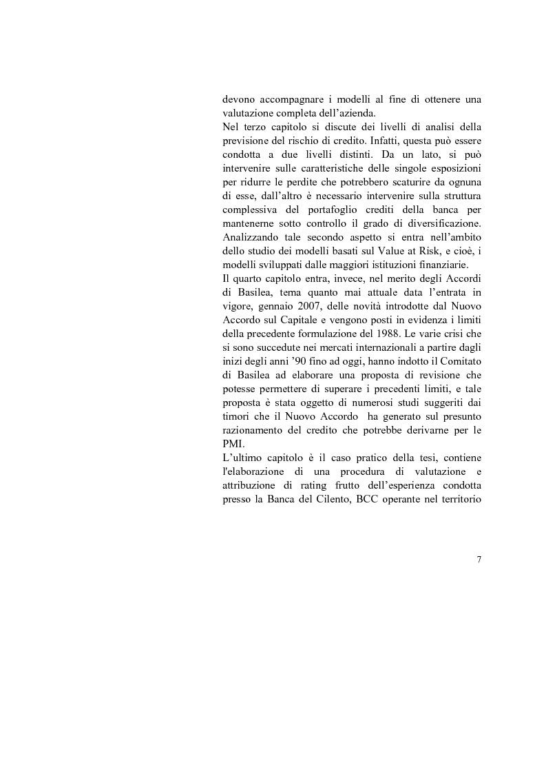 Anteprima della tesi: I Modelli Economico-Aziendali: la previsione di insolvenza alla luce di Basilea 2, Pagina 2