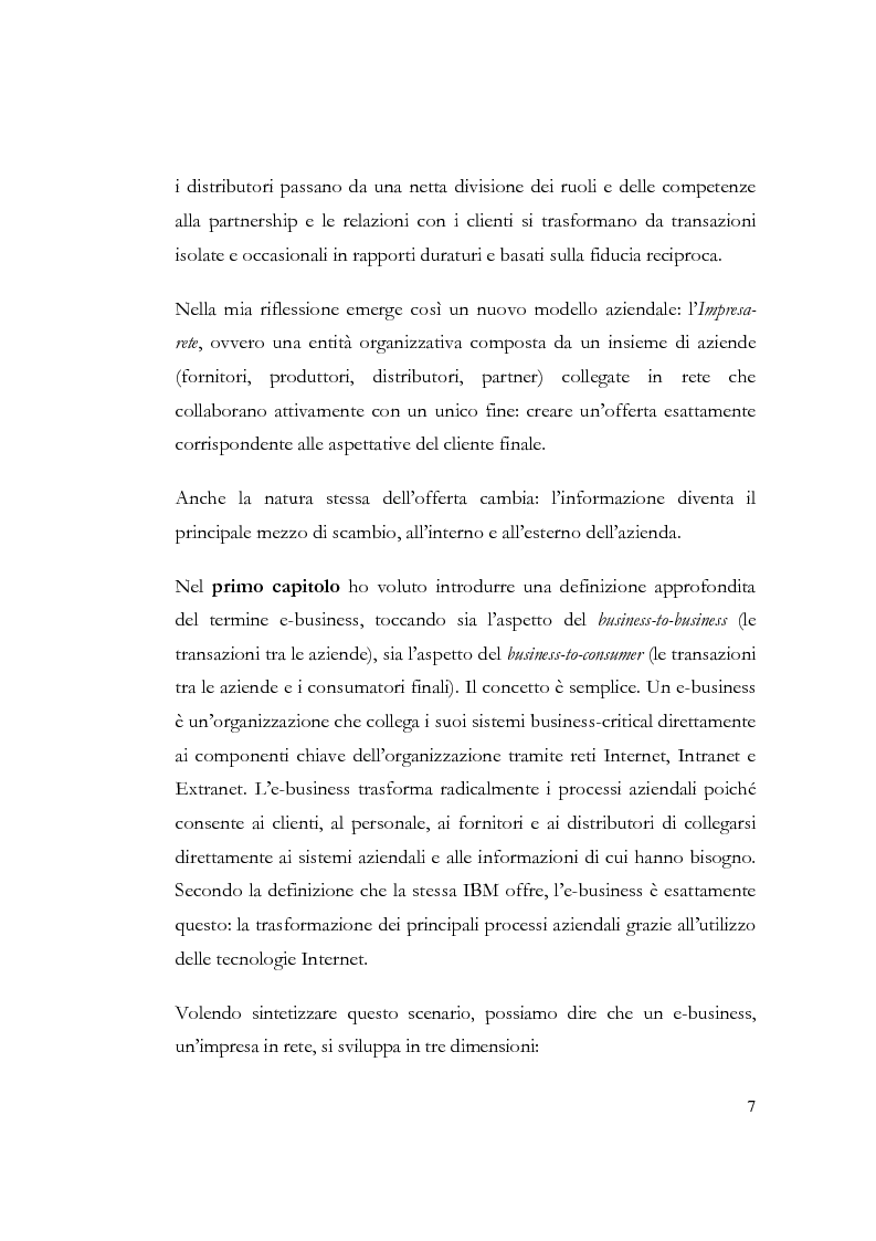 Anteprima della tesi: E-business: la trasformazione dei processi aziendali attraverso le tecnologie internet. Il caso IBM, Pagina 2