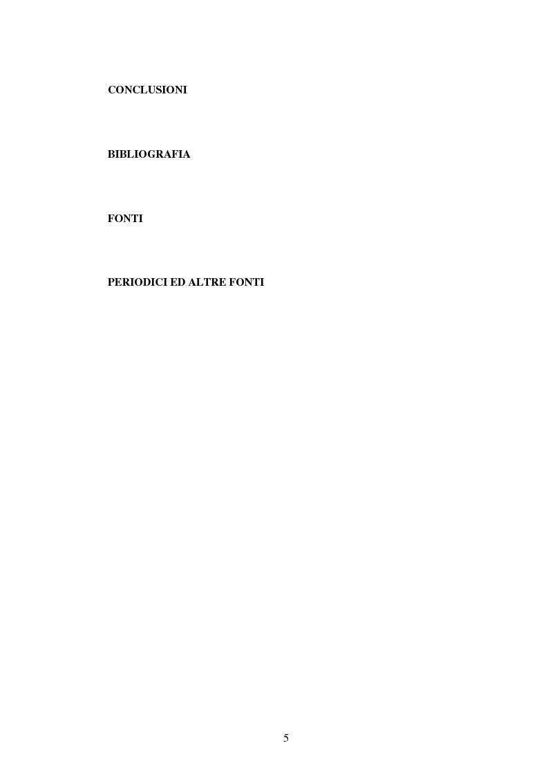 Indice della tesi: Amministrazione Pubblica e innovazione: il processo di riforma dell'INPS (1979-2005), Pagina 4