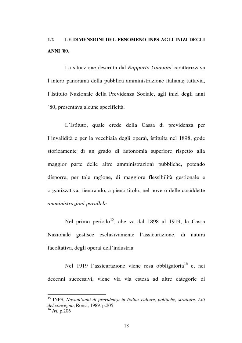 Anteprima della tesi: Amministrazione Pubblica e innovazione: il processo di riforma dell'INPS (1979-2005), Pagina 13