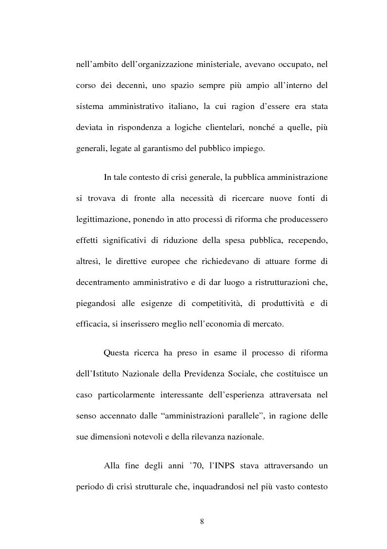 Anteprima della tesi: Amministrazione Pubblica e innovazione: il processo di riforma dell'INPS (1979-2005), Pagina 3