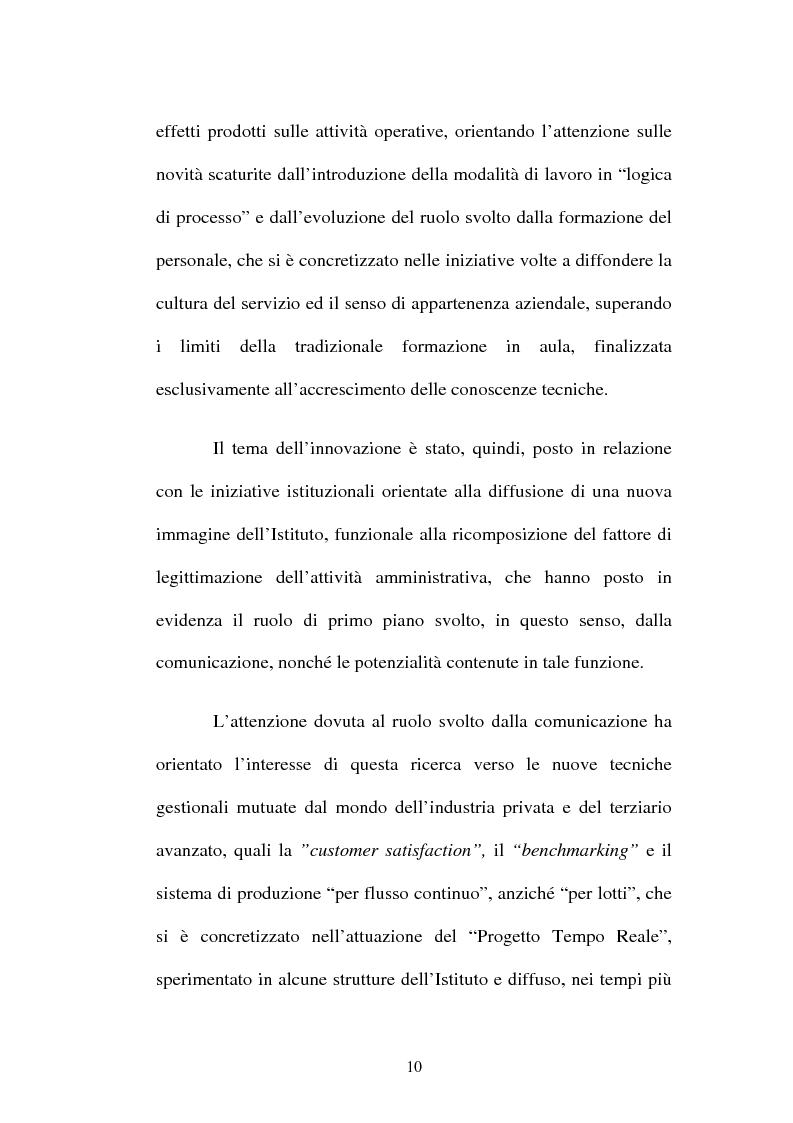 Anteprima della tesi: Amministrazione Pubblica e innovazione: il processo di riforma dell'INPS (1979-2005), Pagina 5