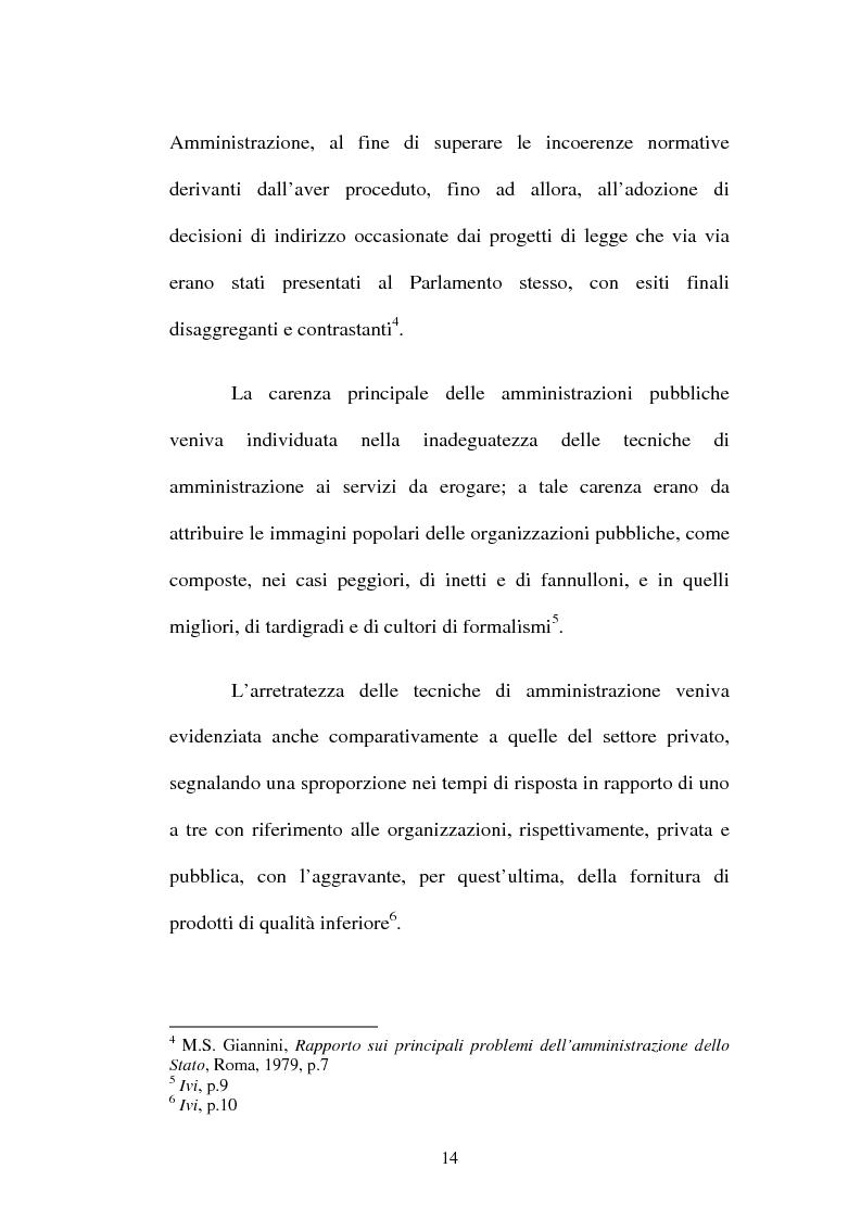 Anteprima della tesi: Amministrazione Pubblica e innovazione: il processo di riforma dell'INPS (1979-2005), Pagina 9