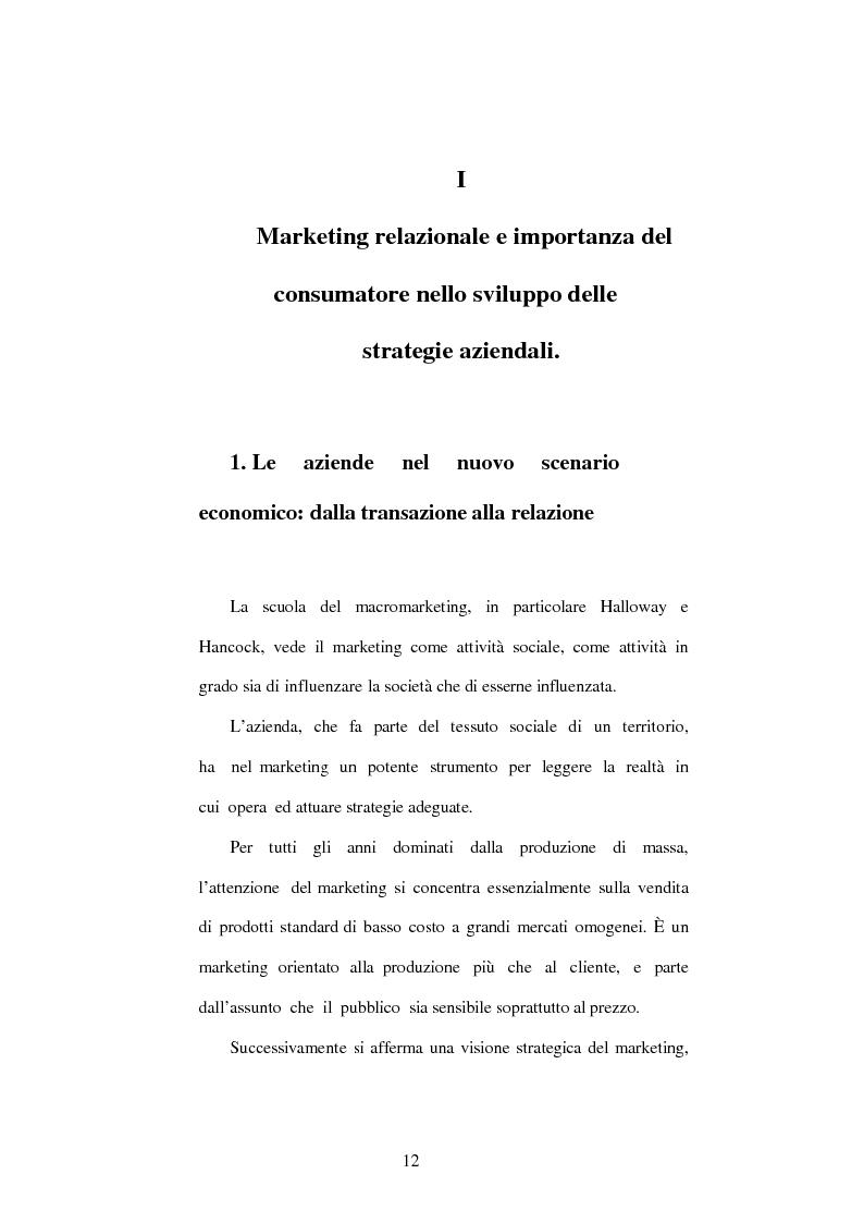 Anteprima della tesi: Aspetti e problemi del Customer Relationship Management (CRM), Pagina 6