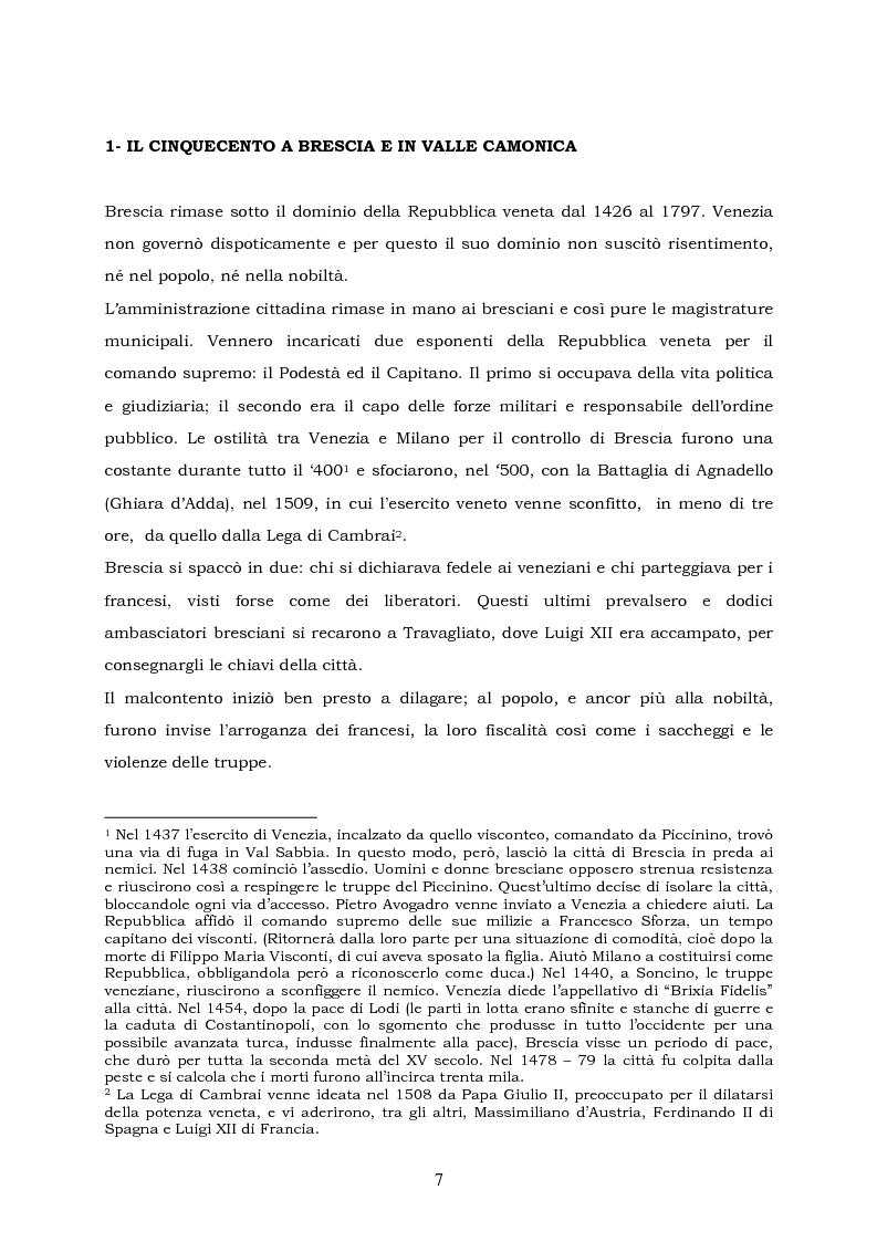 Anteprima della tesi: La pittura del cinquecento in Valle Camonica- Spunti per una valorizzazione, Pagina 5