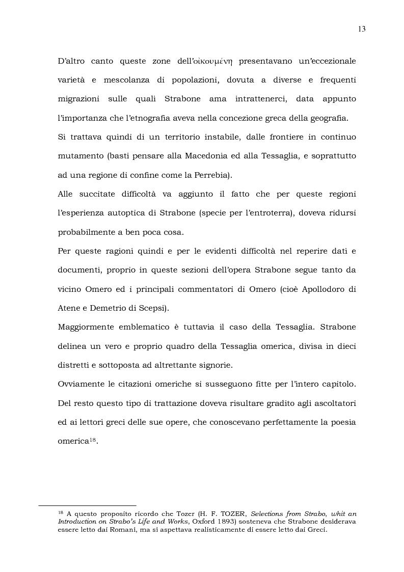 Anteprima della tesi: Epiro, Macedonia, Tracia e Tessaglia (Strab. VII 7 e frammenti; IX 5). Introduzione alle problematiche del testo, versione, note e spunti per un commento, Pagina 13