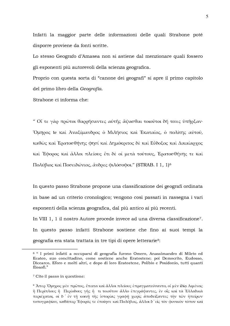 Anteprima della tesi: Epiro, Macedonia, Tracia e Tessaglia (Strab. VII 7 e frammenti; IX 5). Introduzione alle problematiche del testo, versione, note e spunti per un commento, Pagina 5