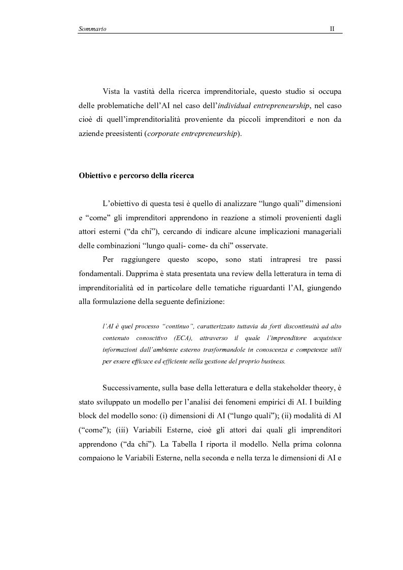 Anteprima della tesi: Il processo di Apprendimento Imprenditoriale nelle start-up high-tech: un modello concettuale e l'analisi di alcuni casi italiani., Pagina 2