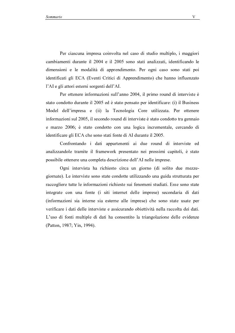 Anteprima della tesi: Il processo di Apprendimento Imprenditoriale nelle start-up high-tech: un modello concettuale e l'analisi di alcuni casi italiani., Pagina 5