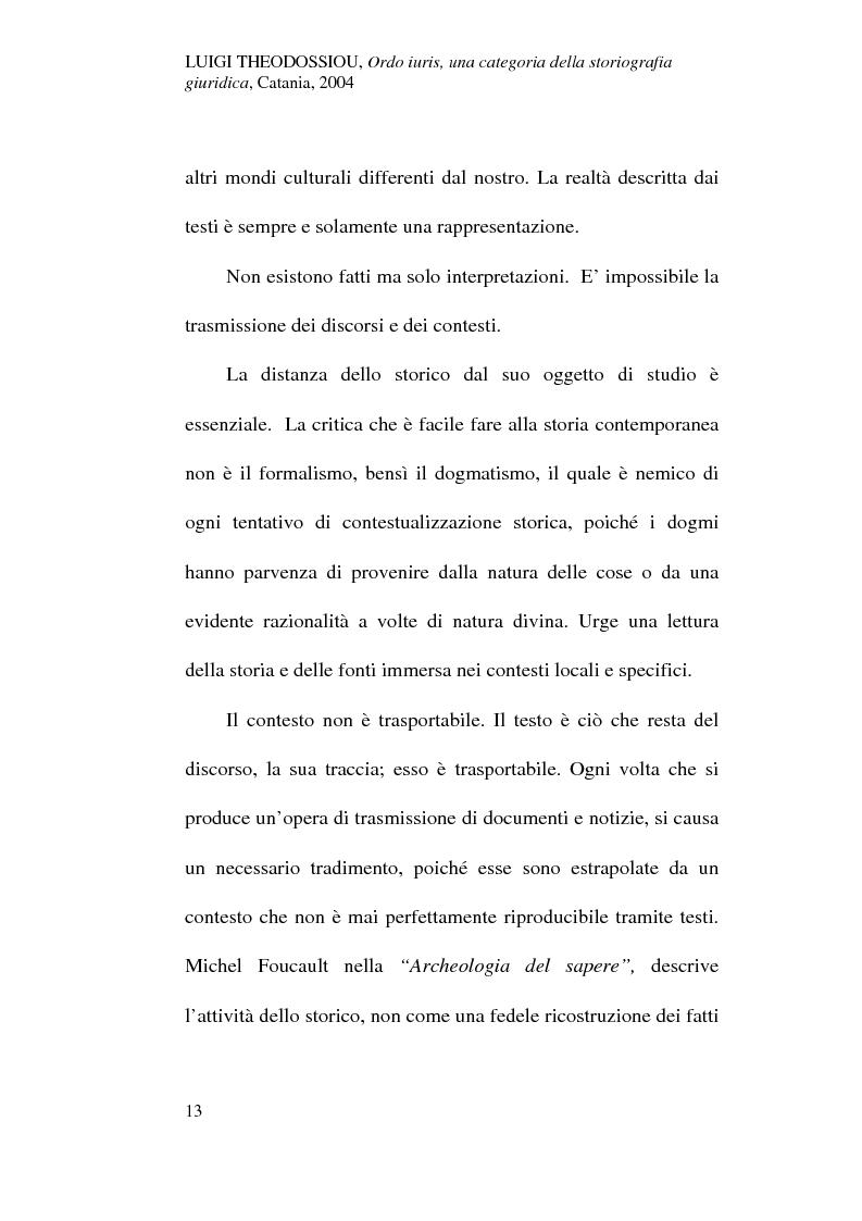 Anteprima della tesi: Ordo iuris, una categoria della storiografia giuridica, Pagina 13