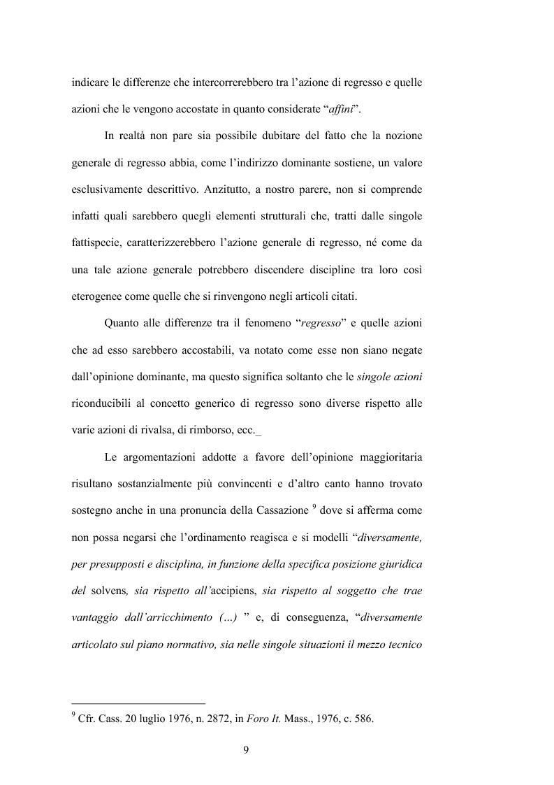 Anteprima della tesi: Regresso e Surrogazione nelle Obbligazioni Solidali, Pagina 9
