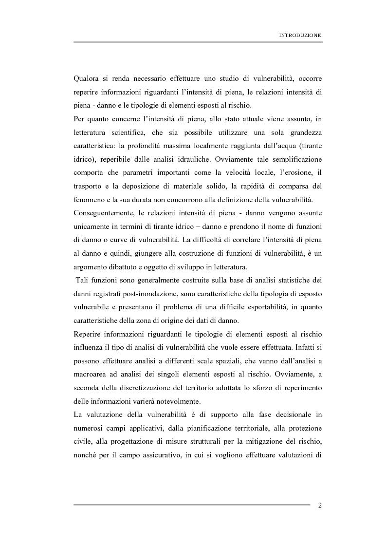 Anteprima della tesi: Studio della vulnerabilità a differente scala spaziale di evento per fenomeni di inondazione con scopi assicurativi, Pagina 2