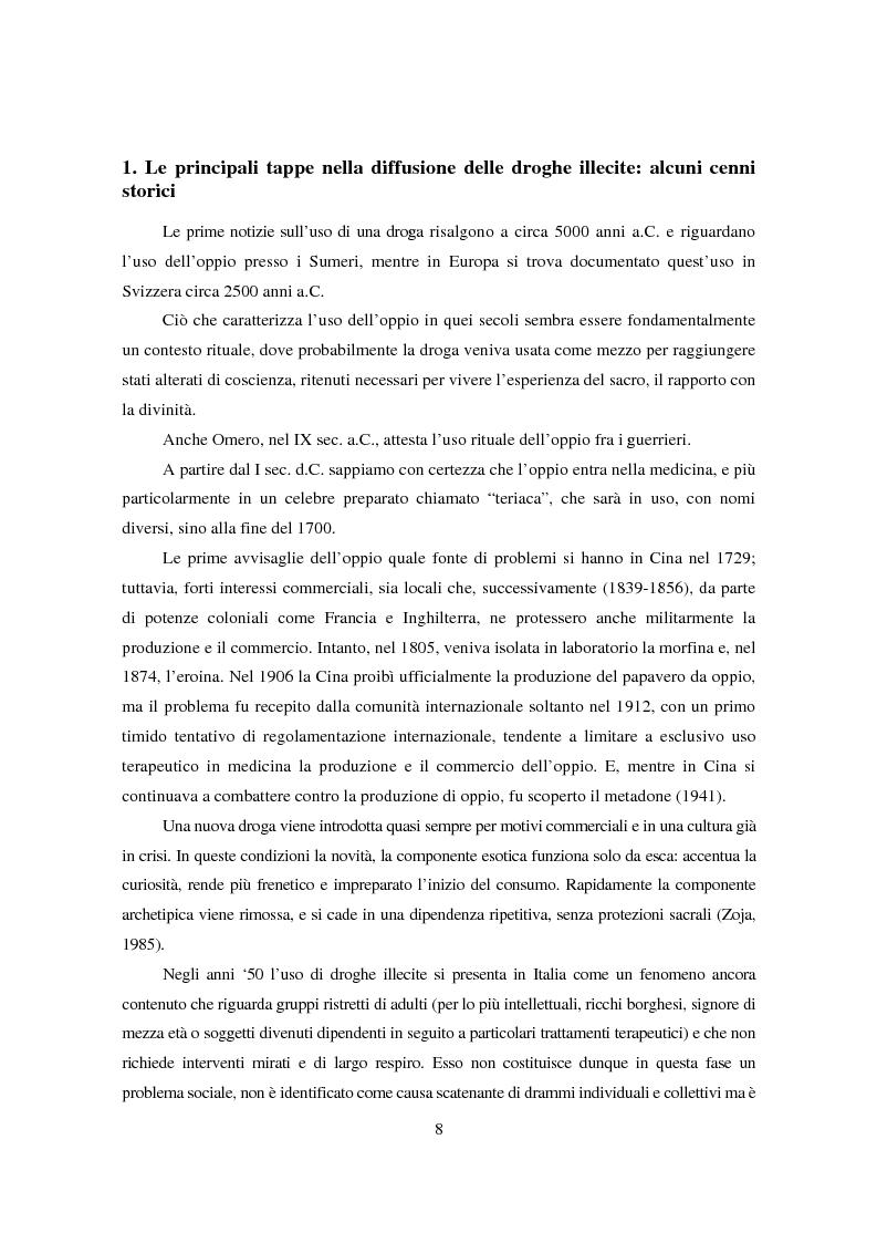 Anteprima della tesi: I diversi significati del consumo di droghe. Una ricerca condotta sui giovani di Gambettola, Pagina 8