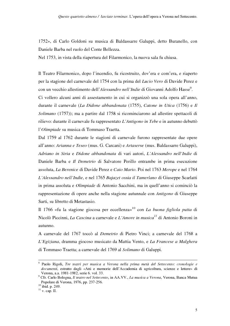 Anteprima della tesi: Questo quartetto almeno lasciate terminar. L'opera dell'opera a Verona nei libretti settecenteschi., Pagina 7