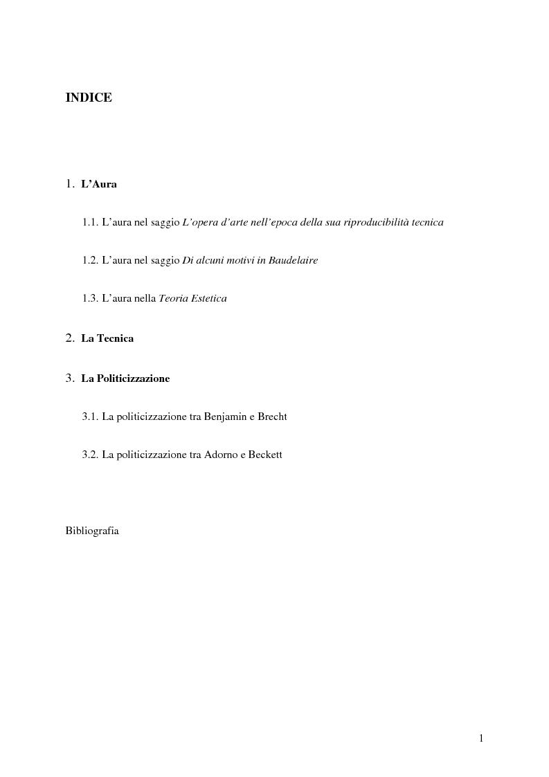 La politicizzazione dell 39 arte in adorno e benjamin indice for Adorno storia dell arte
